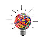 Idea concept. Inspiration concept crumpled light bulb Royalty Free Stock Photography