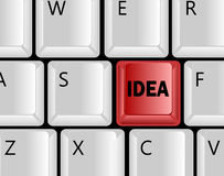 Idea concept with keyboard keys Royalty Free Stock Photo