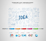 Idea Concept Layout for Brainstorming and Infographic background. With graphs sketches. A lot of hand drawn infographics and related design elements are vector illustration