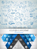 Idea Concept Layout for Brainstorming and Infographic background. With graphs sketches. A lot of hand drawn infographics and related design elements are stock illustration
