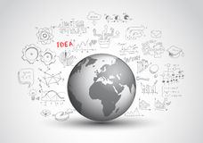 Idea Concept Layout for Brainstorming and Infographic Stock Photos