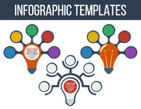 Idea Concept Layout for Teamwork and Brainstorming in form of lamp Royalty Free Stock Photography