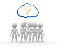 Idea concept. Light bulb Stock Photo