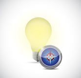Idea concept light bulb illustration design Royalty Free Stock Image