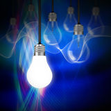Idea concept with light bulbs Royalty Free Stock Photos