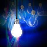 Idea concept with light bulbs Royalty Free Stock Photos