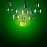 Idea concept. Light bulbs background Stock Photo