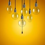Idea concept. Light bulbs background Stock Image