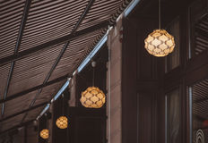 Idea concept with light bulbs on a underview background Stock Photography