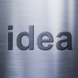 Idea concept on metal background Stock Photo