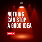 Idea concept. Nothing can stop a good idea. Stock Photos