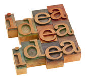 Idea concept in printing blocks Royalty Free Stock Image
