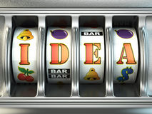 Idea concept. Slot machine with text. 3d Stock Photography
