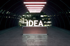 Idea concept stand in tunnel Stock Photo