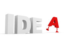 Idea concept text Royalty Free Stock Photography