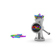 Idea concept. Thoughts are transformed into ideas in the thinking process or brainstorm Royalty Free Stock Photos