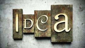 Idea concept with vintage letterpress Stock Photo