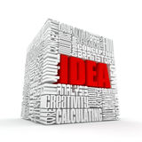 Idea. The concept of the words. 3d stock images