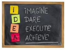 Idea - concepto de la motivación Imagen de archivo