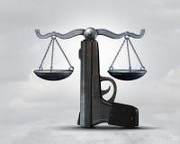 Idea conceptual de la ley del arma ilustración del vector