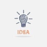 Idea conceptual with shadow. And  text Royalty Free Stock Photos