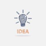 Idea conceptual with shadow Royalty Free Stock Photos