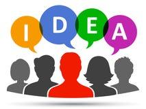 Idea, concetto di lavoro di squadra - vettore Immagini Stock