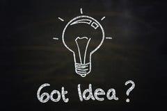 ¿Idea conseguida? Imágenes de archivo libres de regalías