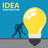 IDEA CONSTRUCTION Royalty Free Stock Images
