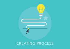 Idea creating process concept flat icon Stock Image