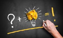 Idea creation equation Royalty Free Stock Photos