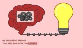 Idea creation process royalty free illustration
