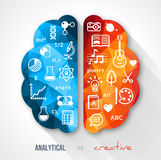 Idea creativa del cervello Fotografie Stock