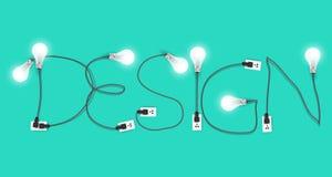 Idea creativa della lampadina di progettazione di vettore Immagine Stock Libera da Diritti