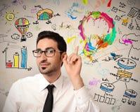 Idea creativa di affari Immagini Stock