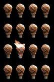 Idea creativa - lampadina Fotografie Stock Libere da Diritti