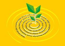 Idea creativa llevada después de una sesión de la reunión de reflexión Diseño de la disposición un cartel La planta con el texto  Imágenes de archivo libres de regalías