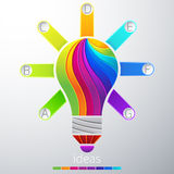 Idea. Creative concept of the idea light bulb consists of colorful polygons, vector Stock Photography