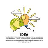 Idea Creative New Project Plan Concept Banner With Copy Space. Vector Illustration Royalty Free Stock Image