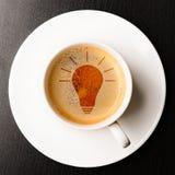 Idea on cup of fresh espresso Stock Photos