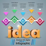 Idea 3d business infographics. Idea 3d idea on the grey background Royalty Free Stock Image