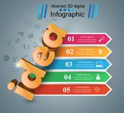 Idea 3d business infographics. Idea 3d idea on the grey background Royalty Free Stock Photos