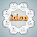 Idea 3d business infographics. Idea 3d logo on the grey background Stock Photography