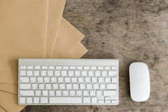 Idea de escritorio de trabajo del concepto Imagen de archivo