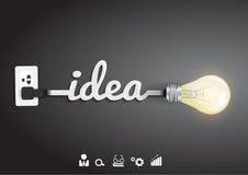 Idea de la bombilla del vector con concepto de la inspiración libre illustration