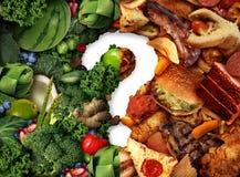 Idea de la confusión de la nutrición ilustración del vector