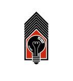 Idea de la construcción, electricidad de la reserva en casa Bul de la luz del vector 3d Fotos de archivo