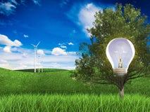 Idea de la energía renovable Imagen de archivo libre de regalías