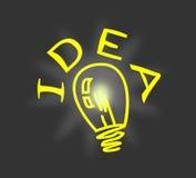 Idea de la luz de bulbo Foto de archivo libre de regalías