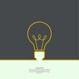 Idea de la luz de bulbo ilustración del vector